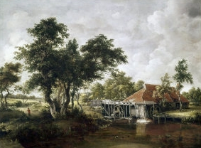 Watermill with the Great Red Roof