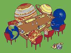 Pluto on the small table
