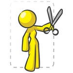 Clip Art Graphic of a Yellow Guy Character