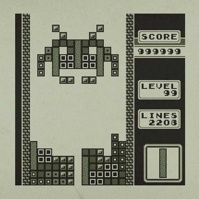 Space Invaders Invade Tetris