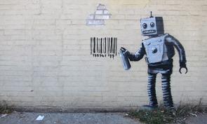 Banksy.Robot Barcode