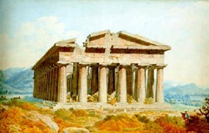 christoph-heinrich-kniep-a-temple-at-paestum