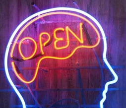 Open Minded Neon Sign