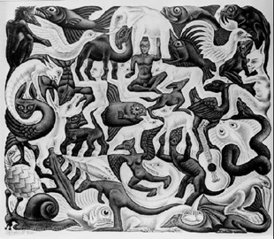 MC Escher.Plane FillingII.1957