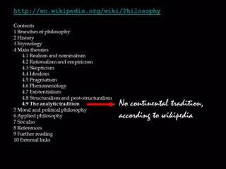 No Continental Wiki