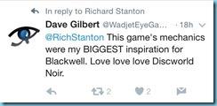 Dave Gilbert Tweet