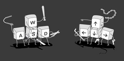 ASWD vs Arrow Keys