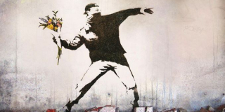Banksy.Flower Thrower