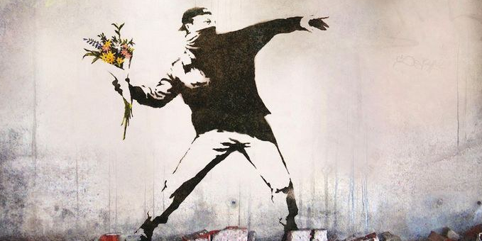 Banksy.Flower Thrower